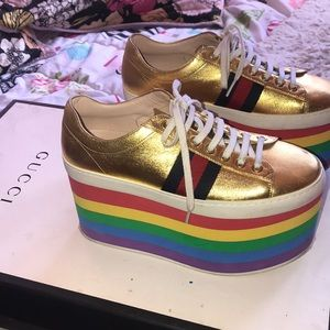 Gucci Rainbow High Platforms